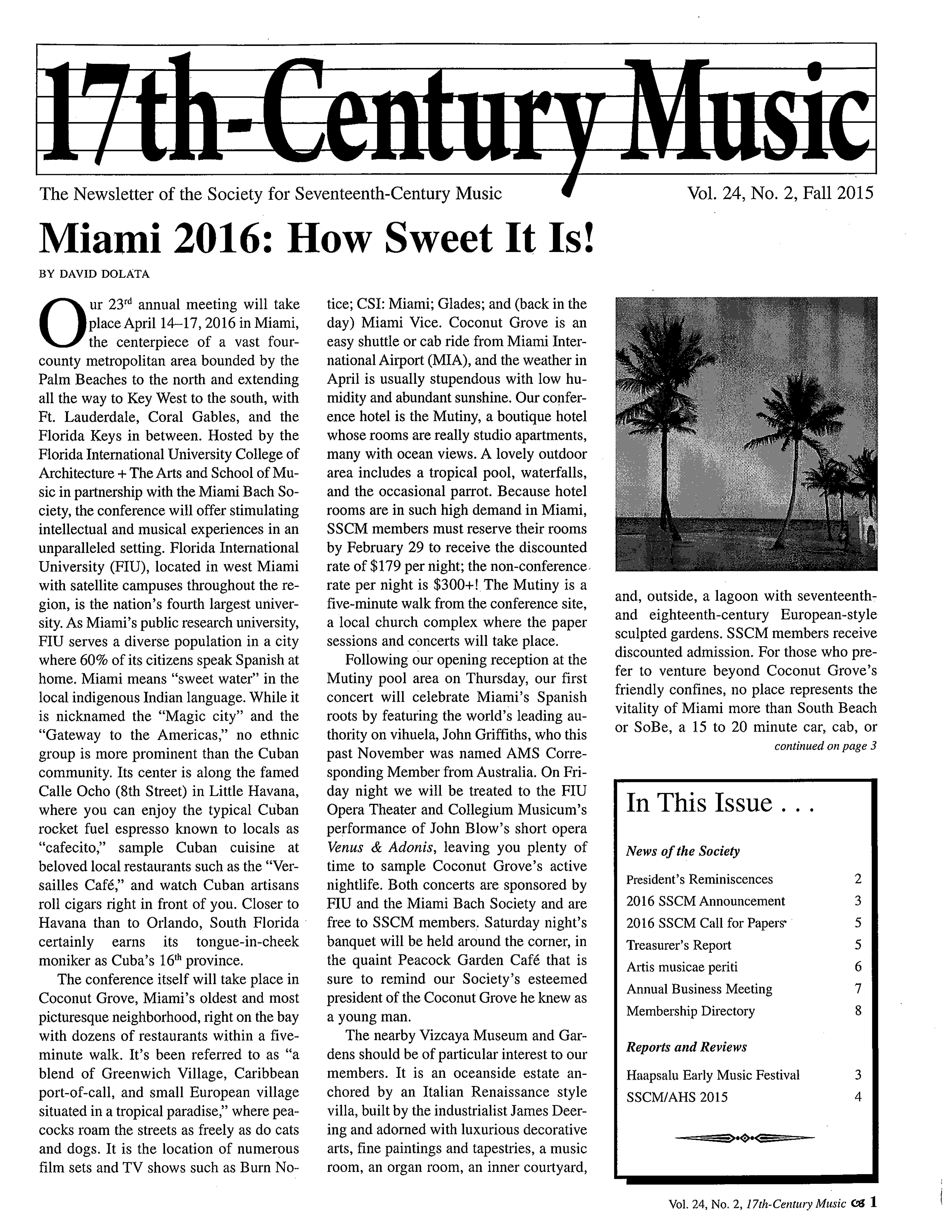 SSCM Miami 2016